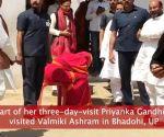 Uttar Pradesh: Priyanka Gandhi Vadra visits Valmiki ashram in Bhadohi