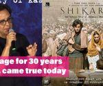 Vidhu Vinod Chopra's 'Shikara'   A Message for 30 years back, came true today