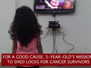 3-year-old boy chops his locks to gift wigs to cancer patients