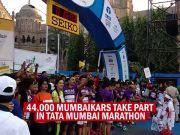 44,000 runners take part in Mumbai Marathon