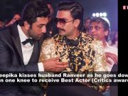 64th Vimal Elaichi Filmfare Awards 2019: Deepika Padukone kisses husband Ranveer Singh as he goes down on one knee