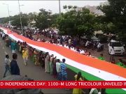 72nd Independence-Day: 1100-m long tricolour unveiled in Surat