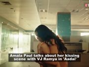 Aadai: Amala Paul on kissing VJ Ramya, says, 'What is wrong with kissing a woman?'