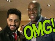 Abhishek Bachchan's day out with NBA legend Magic Johnson