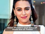 Actress Swara Bhasker's post triggers meme fest on social media