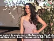 Aditi Rao Hydari reveals she had to make out with Arunoday Singh for an audition