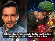 Aditya Narayan reacts to Neha Kakkar getting forcibly kissed by a contestant, says guy who kissed the singer has a tattoo of her