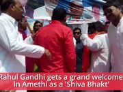 After MP, UP Congress welcomes Rahul Gandhi as 'Shiva Bhakt' in Amethi