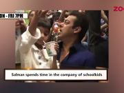 After release from jail, Salman Khan spends time in company of schoolkids