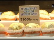 Ahead of Raksha Bandhan, Surat shop sells 'golden' sweets for Rs 9,000 per kg