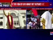 AIADMK faces flak for covering statue of former Tamil Nadu CM Jayalalithaa with cloth