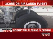 Air Lanka flight suffers tyre burst