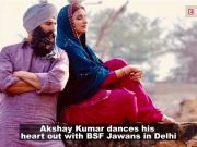 Akshay Kumar And Parineeti Chopra shake legs with BSF Jawans in Delhi