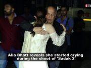 Alia Bhatt reveals she started crying during 'Sadak 2' shooting after watching Mahesh Bhatt getting emotional