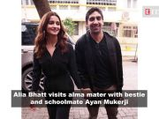 Alia Bhatt's cherishes her back-to-school moment as she returns to alma mater, Ranveer Singh gets nostalgic