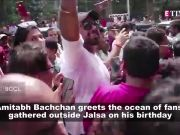 Amitabh Bachchan greets fans gathered outside Jalsa on his birthday; Actress-turned-MP Nusrat Jahan participates in 'Sindoor Khela', and more...