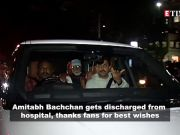 Amitabh Bachchan thanks fans after getting discharged from hospital; Sara Ali Khan's boxing video goes viral, and more…
