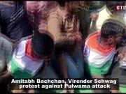 Amitabh Bachchan, Virender Sehwag voluntarily halt shoot as film bodies protest against Pulwama attack