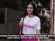 Ananya Panday's appearance on Karan Johar's chat show turns into a meme fest