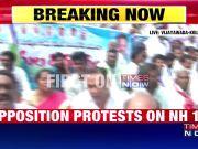 Andhra Pradesh special status row: Protesters block Vijayawada-Kolkata highway
