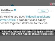 Anushka, Shahid welcome newlywed Deepika-Ranveer 'to the club'; Ranbir-Alia's pics from 'Brahmastra' sets get leaked, and more...