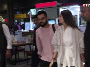 Anushka Sharma and Virat Kohli spotted twinning in white at the airport