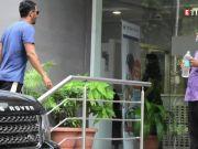 Arjun Rampal and pregnant girlfriend Gabriella Demetriades spotted outside hospital