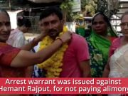 Bapod man celebrates arrest warrant for not paying alimony