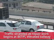 Bengaluru: Ambulance stranded in traffic as repair work begins at BETPL flyover