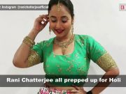 Bhojpuri sensation Rani Chatterjee dons desi look for Holi