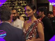 Big B recites father's poem; Manushi Chhillar's gorgeous saree avatar; celebs at bash