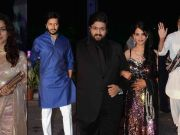 Big B, Riteish at wedding reception of Smita Thackeray's son