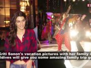 Bollywood actress Kriti Sanon holidays with family in Maldives