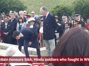Britain honours Sikh, Hindu soldiers who fought in WWI