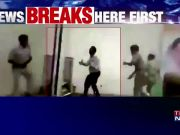 Caught on cam: Congress workers brutally thrashed by cops in Bilaspur