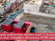 Chennai: Railway reclaims over 1.25 acre of land near Velachery MTRS station
