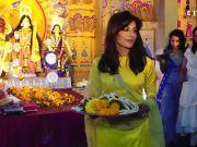 Chitrangda Singh looks ethereal in yellow as she celebrates Durga Puja