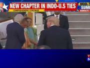 CM Yogi Adityanath presents large portrait of 'Taj Mahal' to Donald Trump