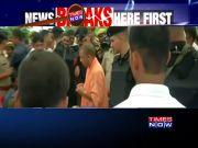 CM Yogi Adityanath visits Sonbhadra firing victims and asures justice