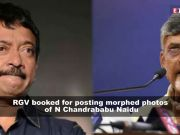 Complaint filed against Ram Gopal Varma for posting morphed pictures of Andhra Pradesh Chief Minister Chandrababu Naidu