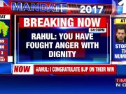 Congress accept people's verdict, Rahul tweets after twin loss
