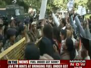 Congress workers protest outside Election Commission office