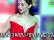 Deepika Padukone gives a glimpse of 'Chhapaak' script reading session