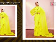 Deepika Padukone just brought back retro with huge gold-rimmed sunnies and yellow frill sari!