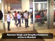 Deepika Padukone, Ranveer Singh return to Mumbai, receive rousing welcome at airport