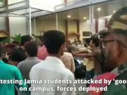 Delhi: Protesting Jamia students attacked by 'goons' on campus, forces deployed