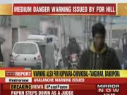 Disaster management body issued avalanche warning Kashmir
