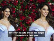 Disha Patani gets brutally trolled over her copy-paste error