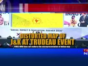 Distorted India map placed at Justin Trudeau event