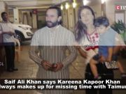 Does it get difficult for Taimur Ali Khan when mom Kareena Kapoor Khan is away? Saif Ali Khan opens up